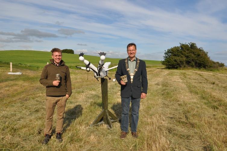 Fuglekonger for stangriffel Lasse Hansen (tv) og Niels Sawman Brandt